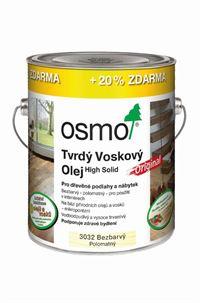 Osmo Tvrdý voskový olej original - 3,0l bezbarvý - hedvábný polomat 3032 10300010