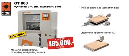 Novinka - CNC vrtací a drážkovací stroj GT 800