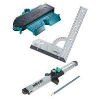 Wolfcraft sada pro přesnou montáž laminátových podlah – úhelník, obrys.šablona, zalícovávač
