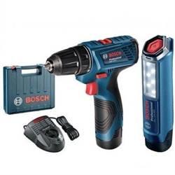 Bosch AKU vrtací šroubovák GSR 120-LI + svítilna GLI 120Li