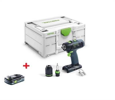 Festool AKU vrtací šroubovák T18+3 Basic + baterie zdarma PROMO 2021