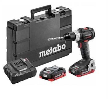 Metabo AKU příklepová vrtačka SB 18 LT BL SE 2x4,0Ah LiHD, metaBOX 145