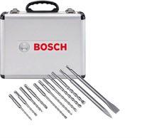 Bosch 11-dílná sada vrtáků a sekáčů SDS-plus-1 v hliníkovém pouzdře