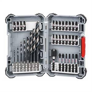 Bosch Sada 35 kusů Pick and Click spirálových vrtáků Impact Control HSS a šroubovacích bitů