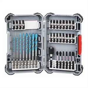Bosch Sada 35 kusů Pick and Click spirálových vrtáků MultiConstruction a šroubovacích bitů