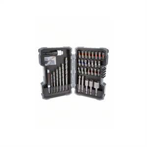 Bosch Sada 35 kusů spirálových vrtáků do zdiva a šroubovacích bitů Extra Hard