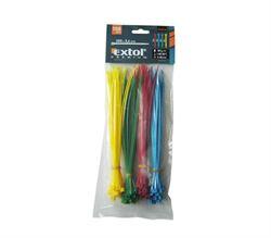 Extol Premium pásky stahovací barevné 150x2,5mm nylon PA66 100ks